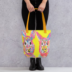 "Rabbit Bros - Tote bag Bag 15"" x 15"" (38.1cm x 38.1cm)"