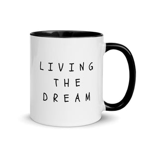 LIVING THE DREAM Mug with Colour Inside