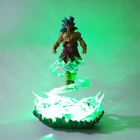 Figurine LED Dragon Ball Z Broly Saiyan Aura