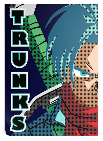 Poster Dragon Ball Z</br> Trunks (Flat Design)