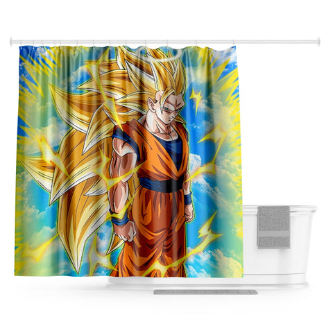 Rideau Douche Dragon Ball</br> Goku Super Saiyan 3