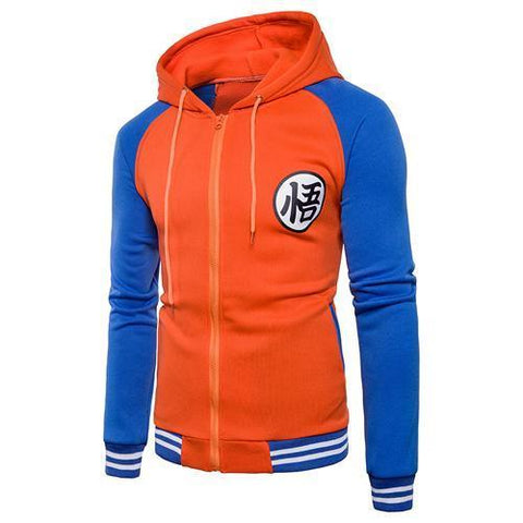 Sweat Zip DBZ <br/> Kanji Go (Orange & Bleu)