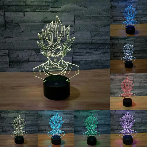 Lampe LED 3D Dragon Ball</br> Goku Super Saiyan 1