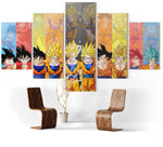 Tableau Dragon Ball </br> Goku Transformation