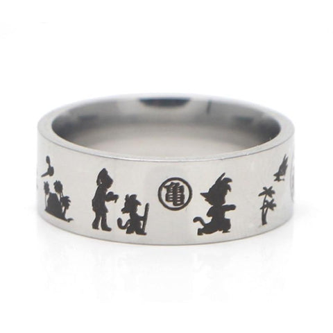 Bague Dragon Ball</br> Goku Petit (Silver)