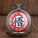 "Montre à Gousset Dragon Ball</br> Kanji ""Go"""