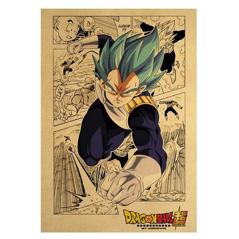 Poster Dragon Ball Super</br> Vegeta Blue