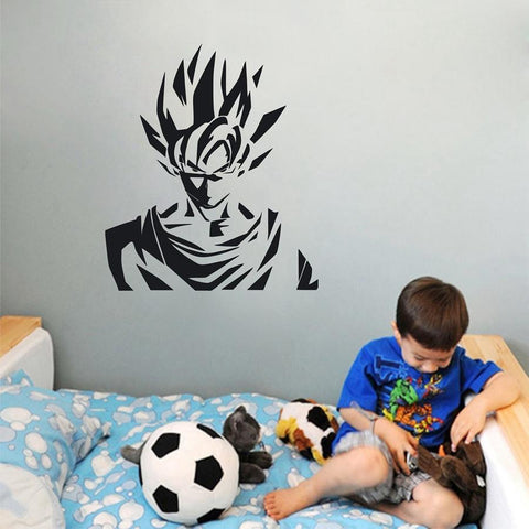 Sticker Mural Dragon Ball </br> Goku Guerrier Saiyan