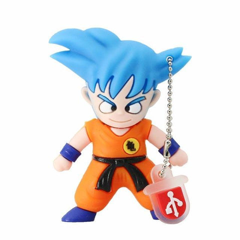 Clef USB Dragon Ball </br> Goku  SSJ Blue (16 - 64 GB)