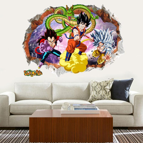 Sticker Mural Dragon Ball </br> Goku et Vegeta SSJ4