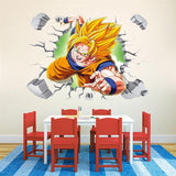 Sticker Mural Dragon Ball </br> Goku Fureur Guerrière