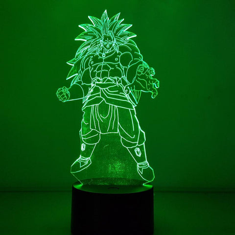 Lampe LED 3D Dragon Ball</br> Broly SSJ Légendaire