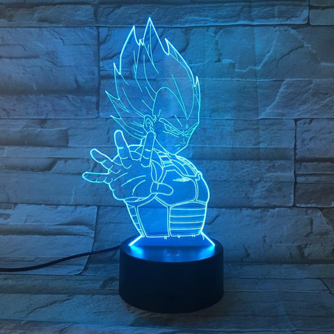 Lampe LED 3D Dragon Ball</br> Vegeta