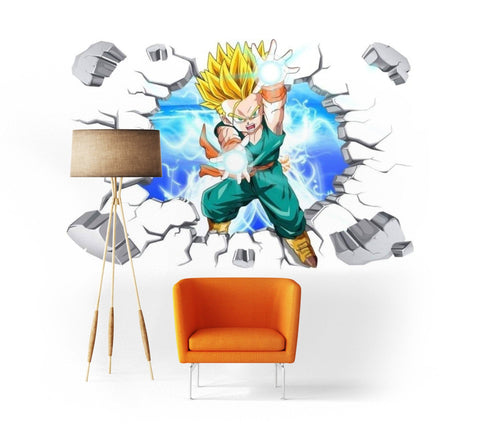 Sticker Mural Dragon Ball</br> Trunks Petit Super Saiyan