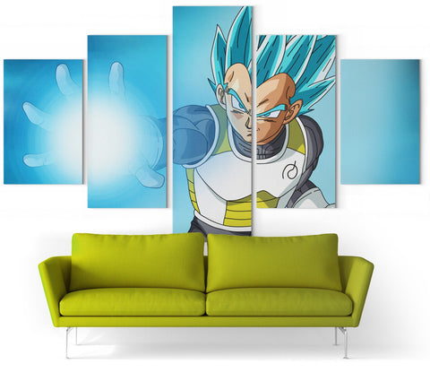 Tableau Dragon Ball Super </br> Vegeta SSJ Blue