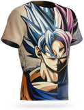 T-Shirt Dragon Ball Super<br/> Goku Blue vs Goku Rosé