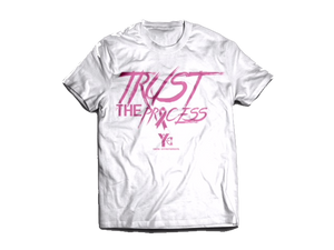 Trust the Process Tee - White/Pink