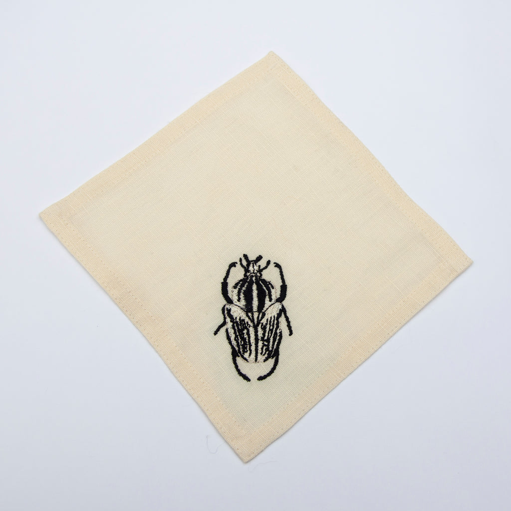 cocktail napkin set -  goliath beetle