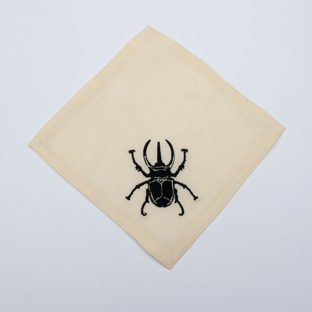 cocktail napkin set - rhinoceros beetle