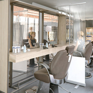 Transparenter Roll-Up (Coiffeur, Detail)