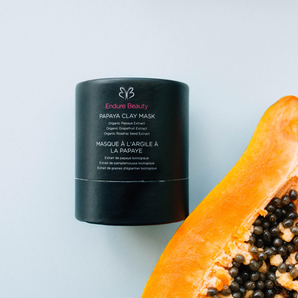 Endure Beauty dewy papaya clay mask