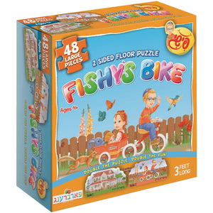 Fishy's Bike - 2 Sided Floor Puzzle (48 Pieces)