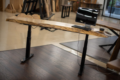 Spalted Maple Electronic Sit/Stand Desk