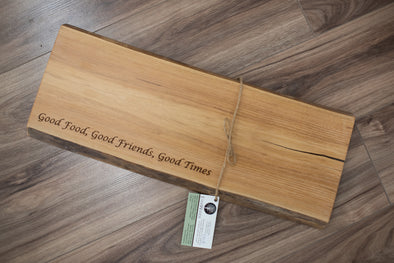 Engraved Live Edge Charcuterie Board - C205