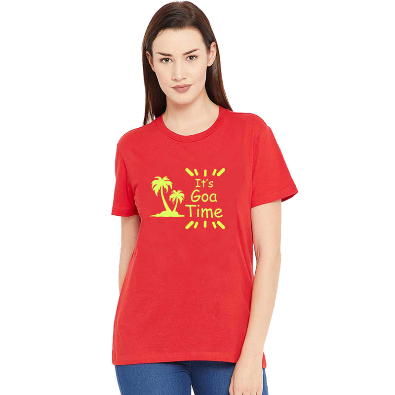Its Goa Time Printed Women T-Shirt