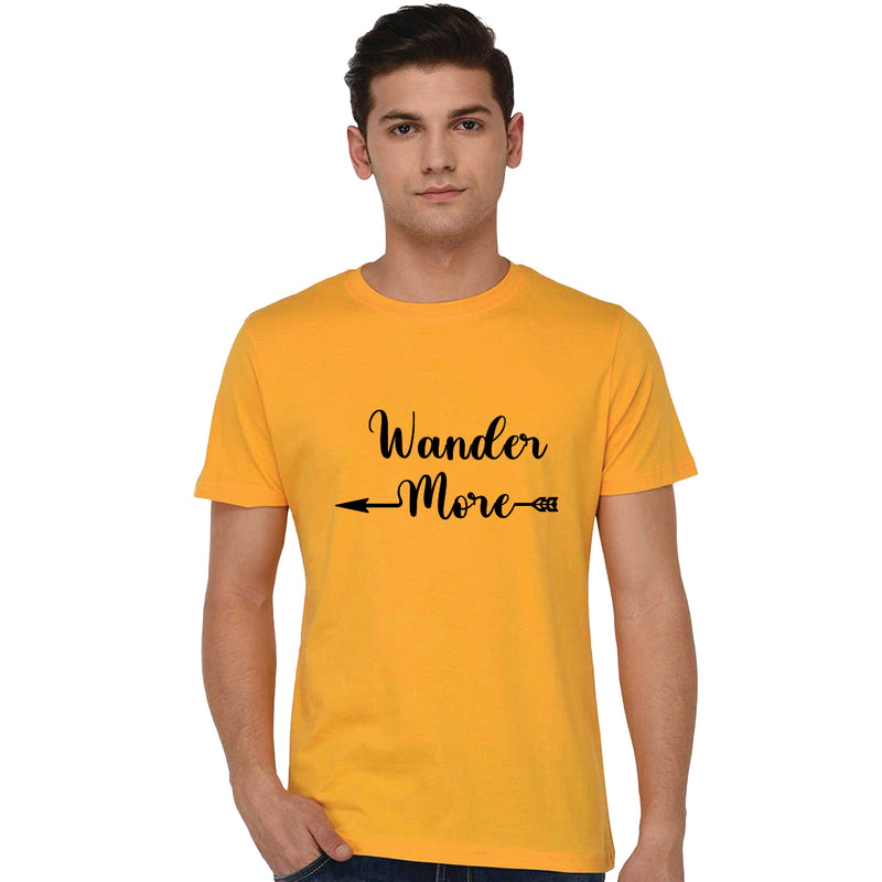 Wander More Printed Men T-Shirt