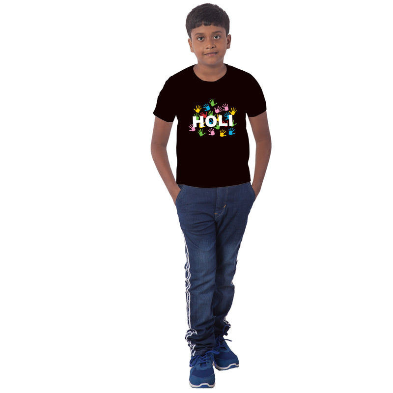 Holi Special Half Sleeves T-Shirt For Kids