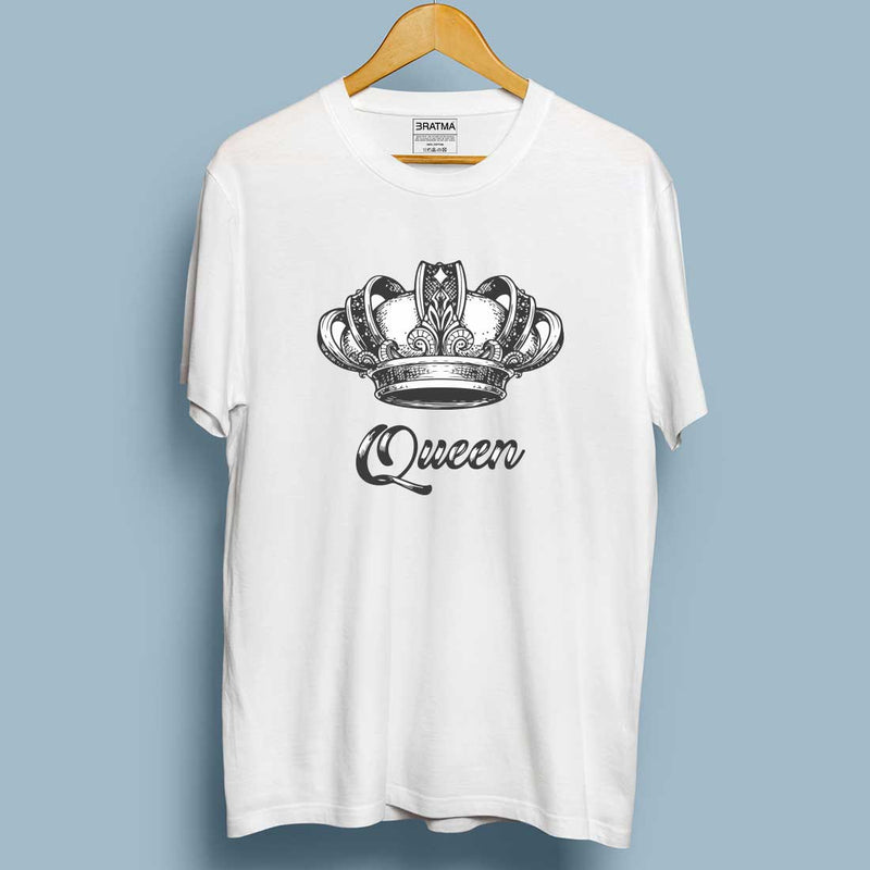 Crown King queen White Couple Tees