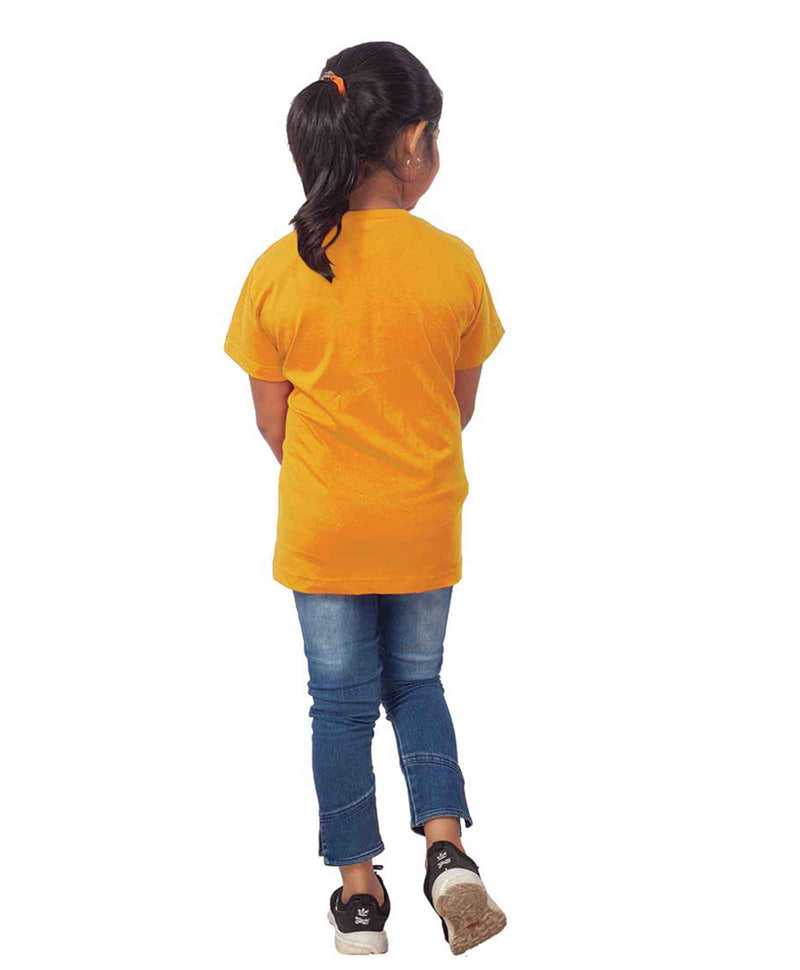 Snow Board Half Sleeves T-Shirt For Kids