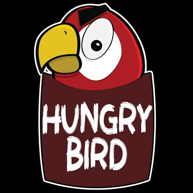 Hungry Bird Black Men T-Shirt