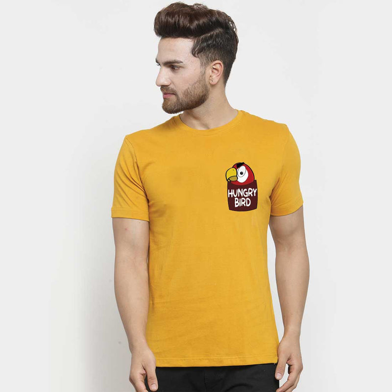 Hungry Bird  Mustrad Men T-Shirt