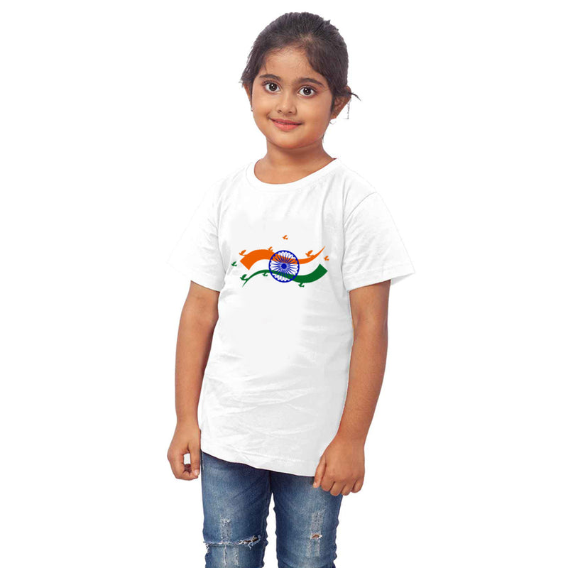 Republic Day Half Sleeves T-Shirt For Kids