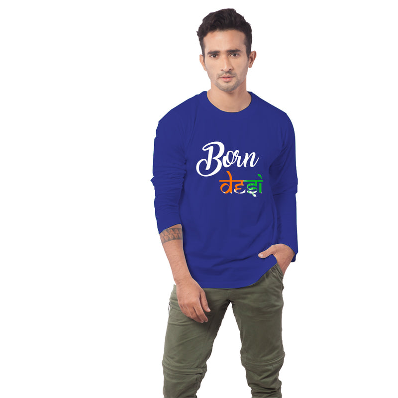 Born Desi Mens Half sleeves t-shirt