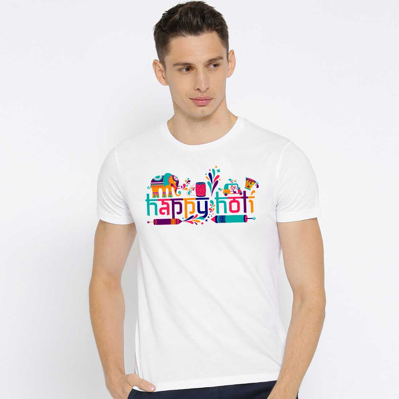 Happy holi White Men T-Shirt