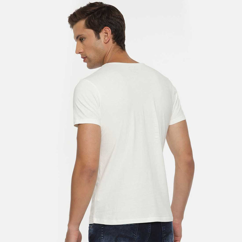 Holi White Men T-Shirt