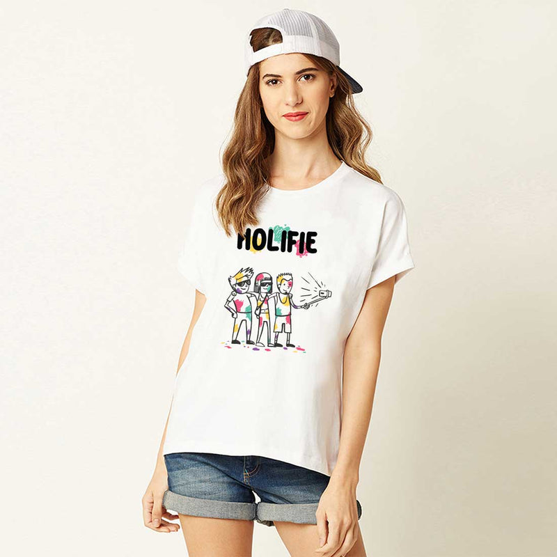 Holifie White Women T-Shirt