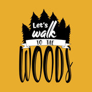 Lets Walk To The Woods Mustrad Men T-Shirt