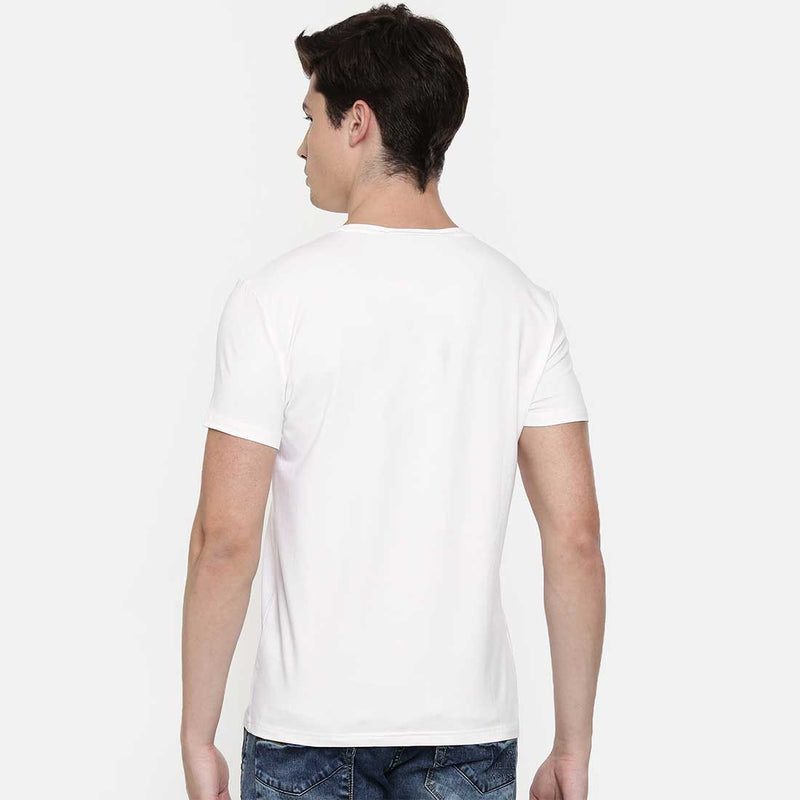 Myway Or Skyway Men White T Shirt