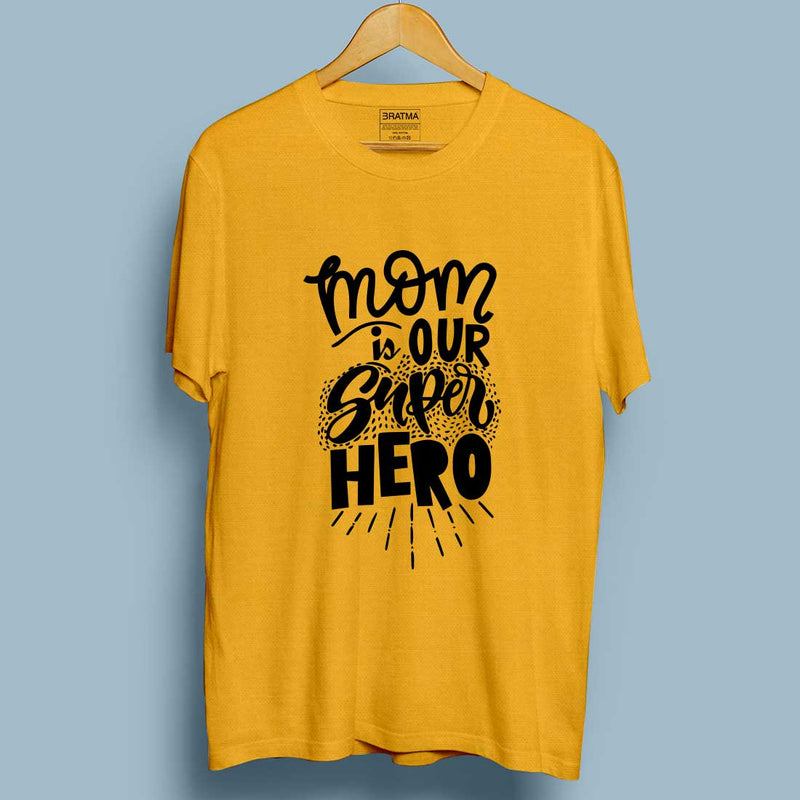 Mom Is Our Super Hero Mustrad Men T-Shirt
