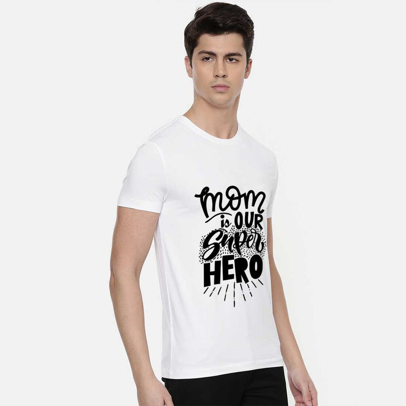 Mom Is Our Super Hero White Men T-Shirt