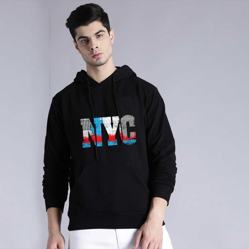 NYC Black Hoodies Men T-Shirt