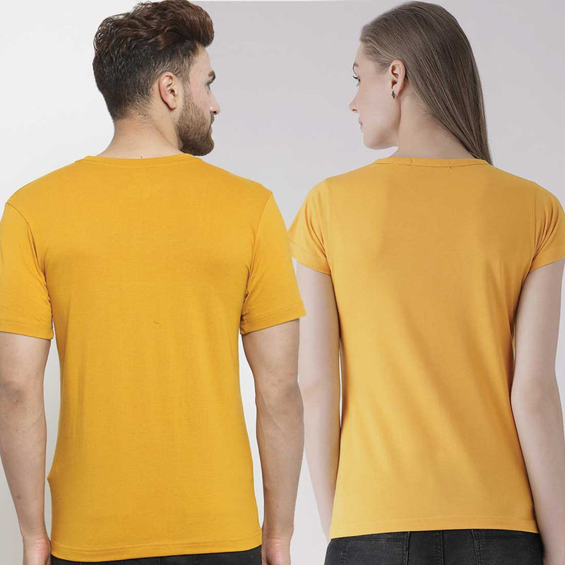 Cats Mustard Couple Tees