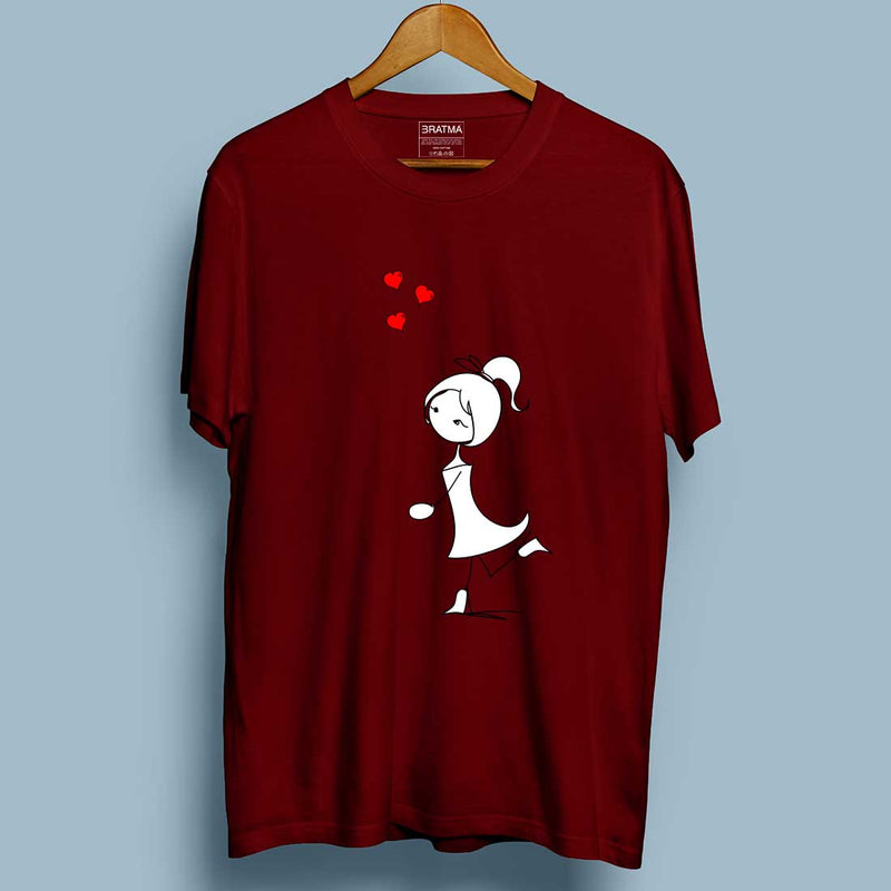 Fly Love Maroon Couple Tees
