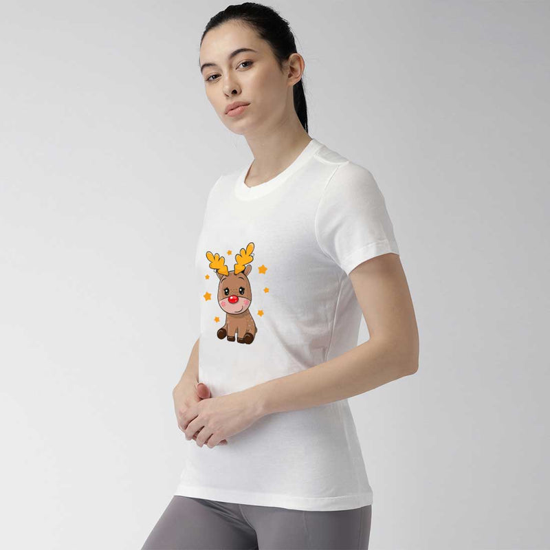 Cute Deer  Women Half-Sleeves