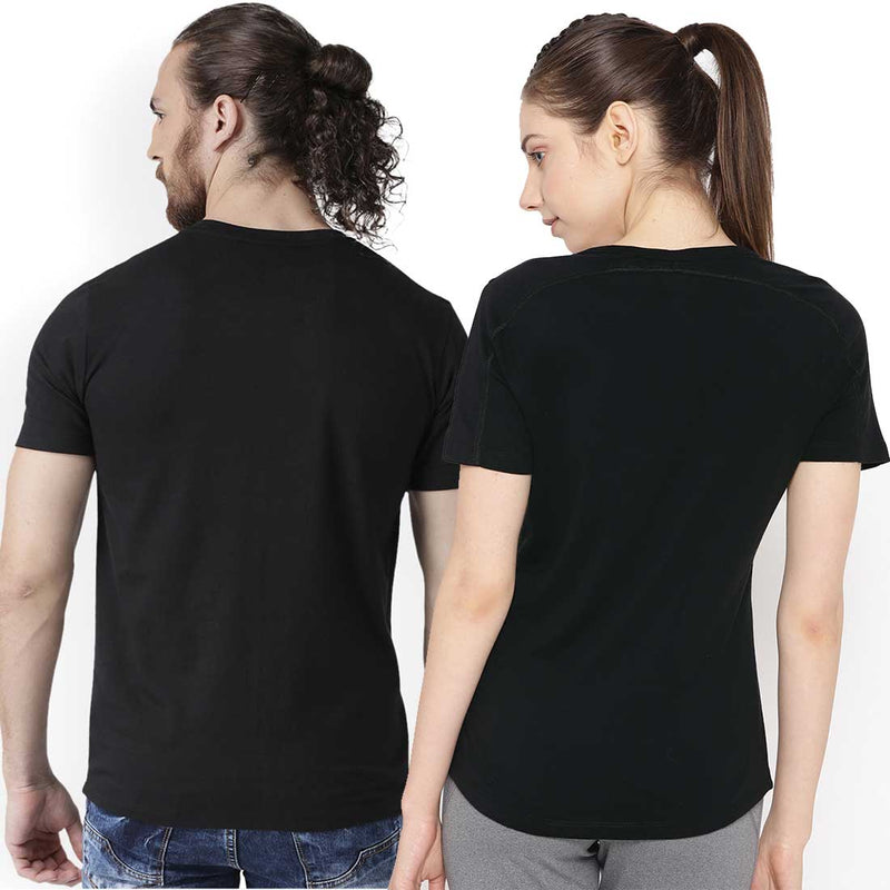 His Hers Black Couple Tees