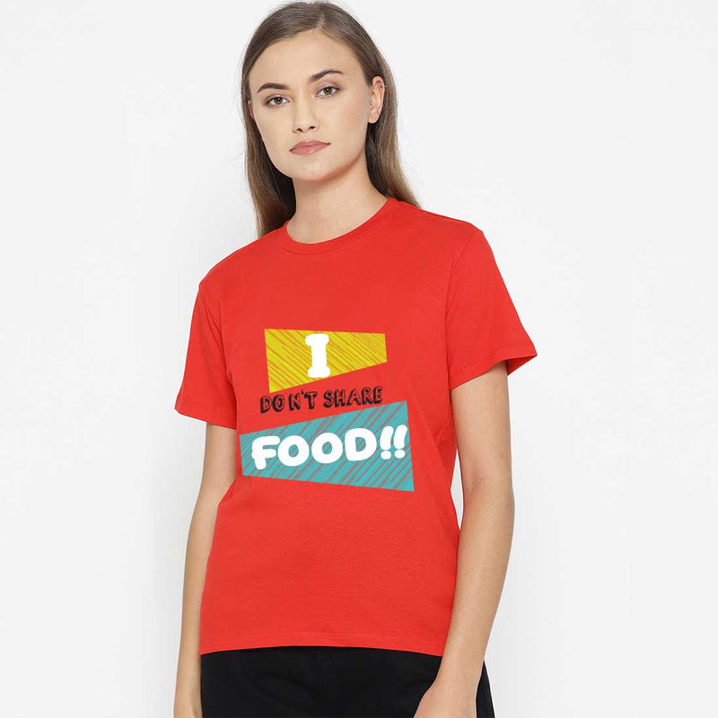 I Doesn't Share Food Red Women T-Shirt